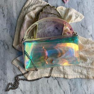 Zara Shiny Clear Handbag